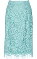 Dolce & Gabbana Floral Lace Pencil Skirt - Lyst