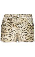 Iro Tiger Skin Print Shorts - Lyst