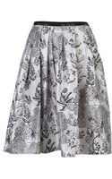 Jil Sander Navy Pleated Skirt - Lyst