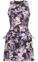 McQ by Alexander McQueen Print Dress with Peplum - Lyst