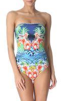 Seafolly Aloha Bandeau Maillot Swimsuit - Lyst