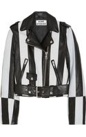 Acne Studios Mape Striped Leather Biker Jacket - Lyst