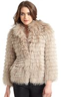 Yigal Azrouel Ombre Raccoon Fox Fur Jacket - Lyst