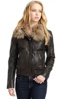 Andrew Marc Blake Leather Bomber Jacket - Lyst