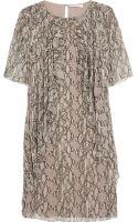 Matthew Williamson Embellished Printed Silk-Chiffon Dress - Lyst