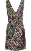Matthew Williamson Printed Silk-Chiffon Dress - Lyst