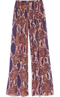 Matthew Williamson Python Print Silk Chiffon Palazzo Pants - Lyst