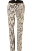 Pied A Terre Printed Cigarette Trouser - Lyst