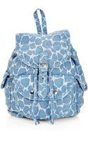 Topshop Denim Giraffe Backpack - Lyst
