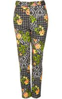 Topshop Tall Acid Leaf Floral Trousers - Lyst