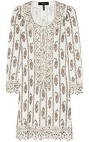 Isabel Marant Eloise Studded Linen Jersey Mini Dress - Lyst