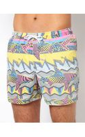 Asos Swim Shorts with Shark Print - Lyst