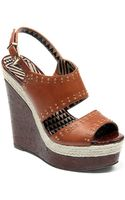 Jessica Simpson Geno Leather Wedges with Studded Accents - Lyst