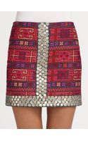 Sachin & Babi Mallory Embroidered Cotton Skirt - Lyst