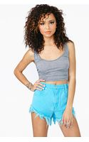 Nasty Gal Sweet Tart Cutoff Shorts - Lyst
