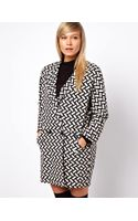 ASOS Collection Asos Coat in Mono Pattern with Textured Back - Lyst