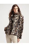 Burberry Prorsum Leopard Rabbit Fur Peacoat - Lyst