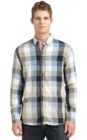 French connection Tour De Twill Check Shirt - Lyst