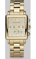 Michael Kors Rectangular Chronograph Bracelet Watch - Lyst