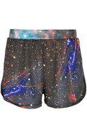 Amaranto Printed Shorts - Lyst