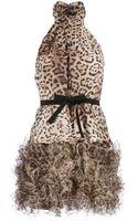 Giambattista Valli Ruffled Leopard Print Dress - Lyst