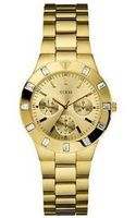 Guess Goldtone Chronograph Watch with Crystal Baguettes - Lyst