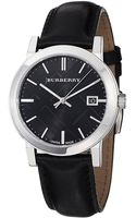 Burberry Mens Check Dial Leather Band Watch - Lyst