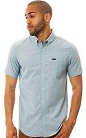 RVCA The Thatll Do Ss Buttondown Shirt in Aegean Blue - Lyst