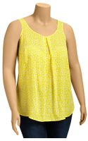 Old Navy Plus Pleated Crepe Tank Top - Lyst