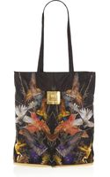 McQ by Alexander McQueen Hummingbirdprint Shell Packaway Shopper - Lyst