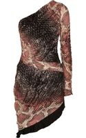 Roberto Cavalli Snakeprint Stretchknit Dress - Lyst