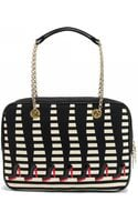 Lulu Guinness Black Chain Too Many Shoes Large Jenny - Lyst