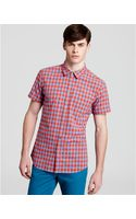 Marc By Marc Jacobs Molly Gingham Check Short Sleeve Sport Shirt Slim Fit - Lyst