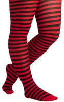 ModCloth Starlet and Stripes Tights in Rouge Plus Size - Lyst