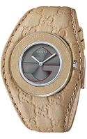 Gucci Uplay 35mm Signature Logo Leather Strap Watch - Lyst