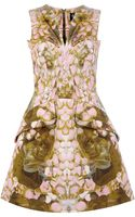 McQ by Alexander McQueen Petal Print Exaggerated Dress - Lyst
