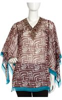 Alberto Makali Beaded Neck Print Tunic - Lyst