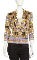 Laundry By Shelli Segal Baroque Print Shawl Collar Jacket - Lyst