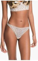 Marlies Dekkers Golden Karo Thong - Lyst