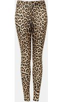 Topshop Animal Print Scuba Leggings - Lyst