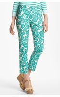 Tory Burch Walton Print Crop Pants - Lyst
