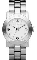 Marc By Marc Jacobs Amy Stainless Steel Watch Silver - Lyst