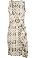 Michael by Michael Kors Patterned Wrap Dress - Lyst