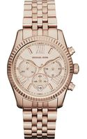 Michael Kors Pvd Rose Goldplated Chronograph Watch - Lyst
