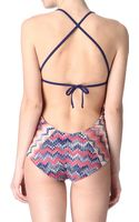 Missoni Halterneck Swimsuit - Lyst