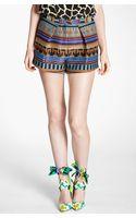 MSGM Ikat Print Jacquard Shorts - Lyst