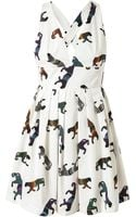 MSGM Panther Printed Cotton Dress - Lyst