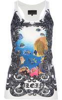 Philipp Plein Fish Print Tank Top - Lyst