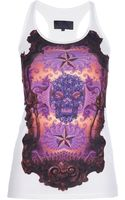 Philipp Plein Printed Tank Top - Lyst