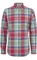 Polo Ralph Lauren Custom Fit Madras Shirt - Lyst